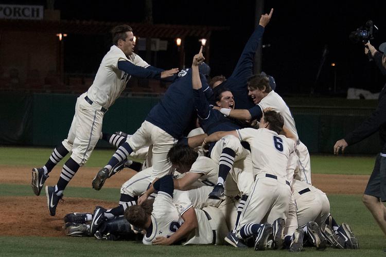 May 27, 2017; Stockton, CA, USA; BYU Cougars during the WCC Baseball Championship at Banner Island Ballpark.