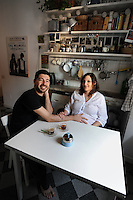 Gente del 30.People of 30..Sara Sebastiani,33 anni,interior designer e grafica.Mauro Lombardo,33 anni, medico nutrizionista..Sara Sebastiani, 33 years, interior designers and graphics. Mauro Lombardo, 33 years, doctor and nutritionist....
