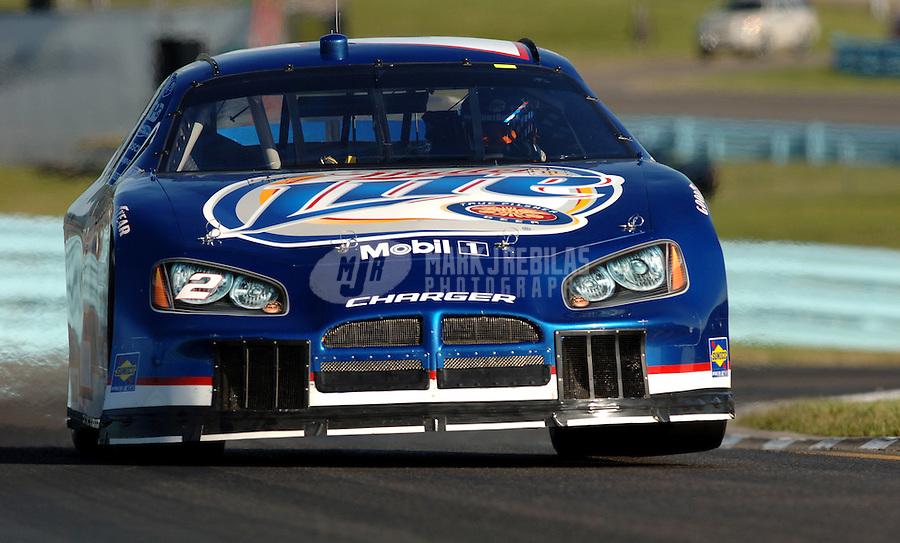 Aug. 12, 2006; Watkins Glen, NY, USA; Nascar Nextel Cup driver Kurt Busch (2) during practice for the AMD at the Glen. Mandatory Credit: Mark J. Rebilas.