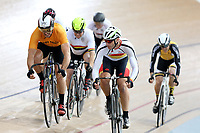 Zane Alexander of East Coast North Island and Michael White of Southland compete in the  Masters Men Cat 1 Keirin at the Age Group Track National Championships, Avantidrome, Home of Cycling, Cambridge, New Zealand, Saturday, March 18, 2017. Mandatory Credit: © Dianne Manson/CyclingNZ  **NO ARCHIVING**