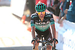 Rafal Majka (POL) Bora-Hansgrohe crosses the finiah line at the end of Stage 15 of La Vuelta 2019 running 154.4km from Tineo to Santuario del Acebo, Spain. 8th September 2019.<br /> Picture: Luis Angel Gomez/BettiniPhoto | Cyclefile<br /> <br /> All photos usage must carry mandatory copyright credit (© Cyclefile | Luis Angel Gomez/BettiniPhoto)