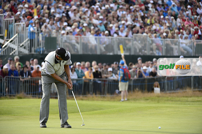 Matt Kuchar (USA) takes his putt on the 17th green during Saturday's Round 3 of the 141st Open Championship at Royal Lytham & St.Annes, England 21st July 2012 (Photo Eoin Clarke/www.golffile.ie)