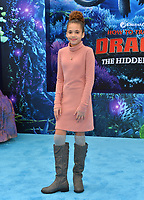 "LOS ANGELES, CA. February 09, 2019: Scarlet Spencer at the premiere of ""How To Train Your Dragon: The Hidden World"" at the Regency Village Theatre.<br /> Picture: Paul Smith/Featureflash"