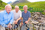John Pierce, CEO South Kerry Development Partnership, Mick Foley, Beaufort Community Council and John Patrick O'Connor, landowner, pictured at the bridge over the Gaddagh river, on the way up to the Hags Glen in Beaufort.