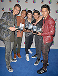 CORAL GABLES, FL - JULY 14: Singers Zabdiel de Jesus, Richard Camacho, Erick Brian Colon, Joel Pimentel and Christopher Velez of CNCO attends the Univision's 13th Edition Of Premios Juventud Youth Awards at Bank United Center on July 14, 2016 in Coral Gables, Florida.  ( Photo by Johnny Louis / jlnphotography.com )