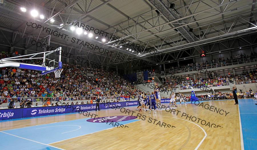 ZRENJANIN SERBIA - 5/09/2012. FIBA Eurobasket 2013 qualification basketball game Serbia vs Slovakia in Zrenjanin, Serbia(CREDIT: PEDJA MILOSAVLJEVIC / +381641260959 / thepedja@gmail.com)