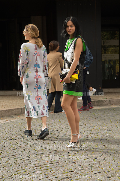 Leigh Lezark attend Miu Miu Show Front Row - Paris Fashion Week  2016.<br /> October 7, 2015 Paris, France<br /> Picture: Kristina Afanasyeva / Featureflash