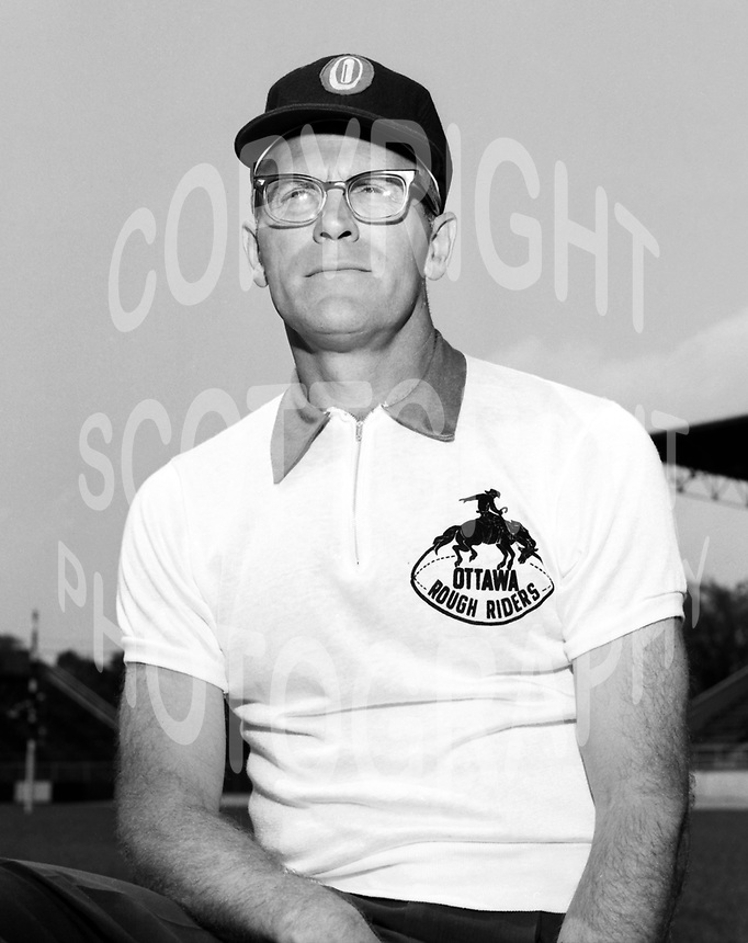 Frank Clair Ottawa Rough Riders 1964. Photo Ted Grant