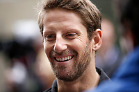 14th November 2019, Autodromo Jose Carlos,Pace, Sao Paolo, Brazil; F1 Grand Prix of Brazil, Driver arrival and Press conference;  Romain Grosjean FRA, Rich Energy Haas F1 Team, Sao Paulo Brazil