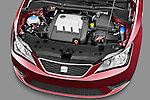 High angle engine detail of a 2013 Seat Ibiza Style Hatchback  .