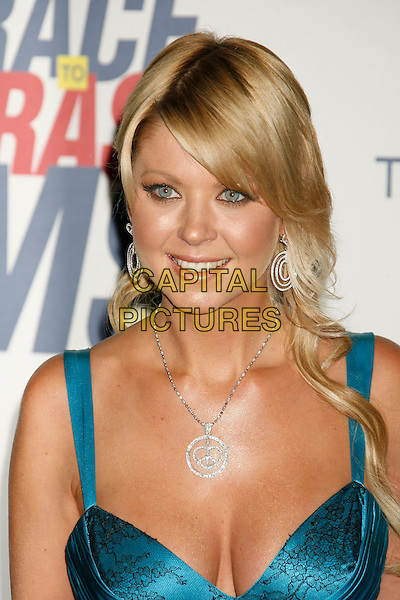 "TARA REID.14th Annual Race to Erase MS Themed ""Dance to Erase MS"" held at the Century Plaza Hotel, Century City, California, USA, 13 April 2007..portrait headshot silver diamond necklace  earrings blue turquoise dress silk satin.CAP/ADM/RE.©Russ Elliot/AdMedia/Capital Pictures."