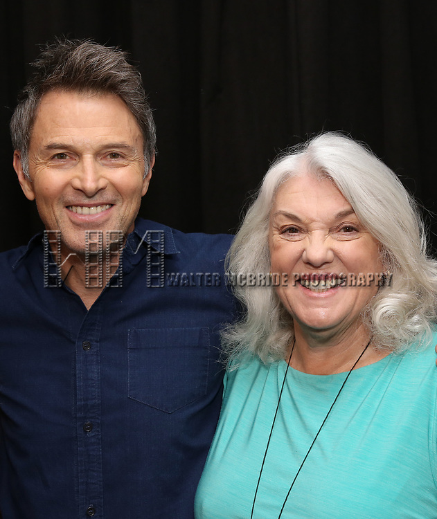 Tim Daly and Tyne Daly attend the Photo Call for The Dorset Theatre Festival World Premiere of Theresa Rebeck's 'Downstairs' at Actors Connection on May 10, 2017 in New York City.