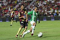 IBAGUÉ- COLOMBIA,2-06-2019:Acción de juego entre los equipos  del Deportes Tolima y el Atlético Nacional durante el quinto partido de los cuadrangulares finales de la Liga Águila I 2019 jugado en el estadio Manuel Murillo Toro de la ciudad de Ibagué. /Action game between teams  Deportes Tolima and Atletico Nacional   during the fifht match for the quarter finals B of the Liga Aguila I 2019 played at the Manuel Murillo Toro stadium in Ibague city. Photo: VizzorImage / Felipe Caicedo / Staff