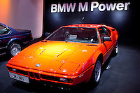BMW M1 sports car on display at the BMW Museum and Headquarters in Munich, Bavaria, Germany