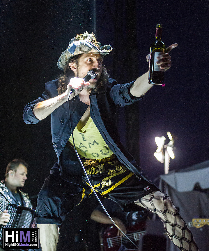 Gogol Bordello performs at the 2014 Voodoo Music Experience.