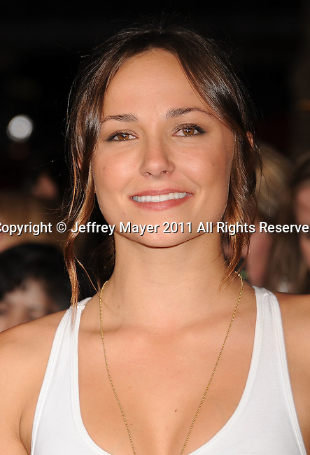 "LOS ANGELES, CA - NOVEMBER 14: Briana Evigan arrives at the Los Angeles premiere of ""The Twilight Saga: Breaking Dawn Part 1"" held at Nokia Theatre L.A. Live on November 14, 2011 in Los Angeles, California."