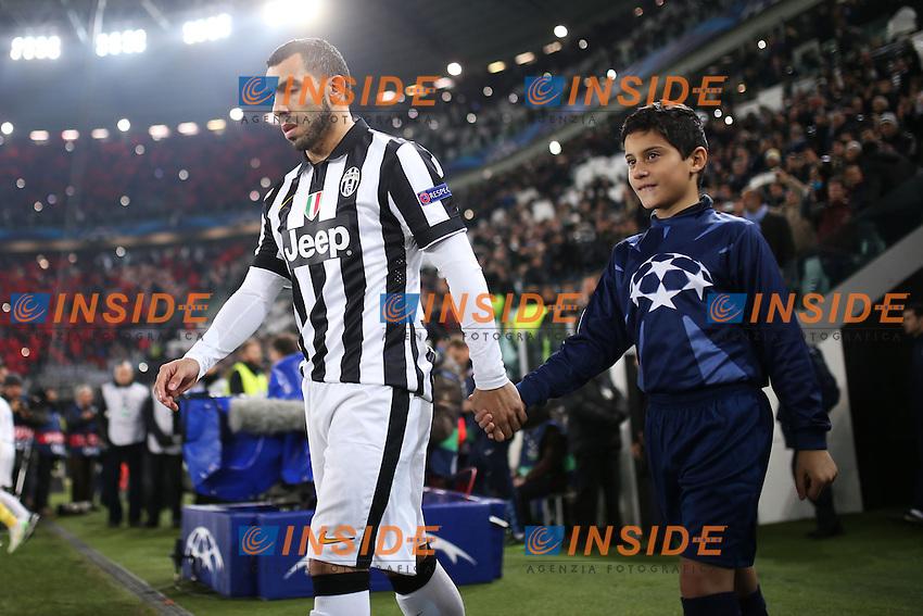 Carlos Tevez Juventus, <br /> Torino 09-12-2014, Juventus Stadium, Football Calcio 2014/2015 Champions League, Juventus - Atletico Madrid, foto Marco Bertorello/Insidefoto