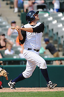 Trenton Thunder infielder Kevin Mahoney (13) during game against the Richmond Flying Squirrels at ARM & HAMMER Park on June 9 2013 in Trenton, NJ.  Trenton defeated Richmond 3-2.  Tomasso DeRosa/Four Seam Images
