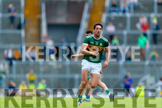 Anthony Maher  Kerry in action against  Clare during the Munster GAA Football Senior Championship semi-final match between Kerry and Clare at Fitzgerald Stadium in Killarney on Sunday.