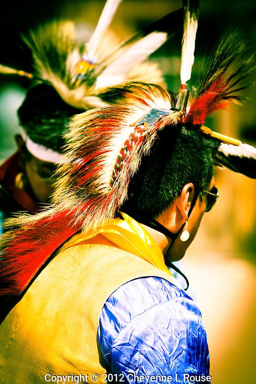 Native American Dancer in his Ray Ban sunglasses - ceremony - Arizona