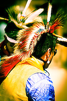 Native American Dancer in his Ray Ban sunglasses - ceremony - Arizona