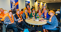Den Bosch, The Netherlands, Februari 9, 2019,  Maaspoort , FedCup  Netherlands - Canada,  Dutch supporters<br /> Photo: Tennisimages/Henk Koster