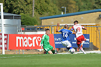 Alex Revell of Stevenage flicks just wide during Stevenage vs Tranmere Rovers, Sky Bet EFL League 2 Football at the Lamex Stadium on 4th August 2018