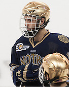 Mike Voran (ND - 16) - The Boston College Eagles defeated the visiting University of Notre Dame Fighting Irish 4-2 to tie their Hockey East quarterfinal matchup at one game each on Saturday, March 15, 2014, at Kelley Rink in Conte Forum in Chestnut Hill, Massachusetts.