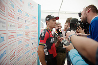 winners interview for Philippe Gilbert (BEL/BMC)<br /> <br /> Ster ZLM Tour 2014<br /> stage 4: Hotel Verviers - La Gileppe (187km)
