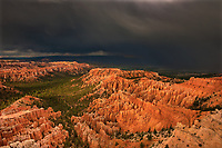 730750164 view from bryce point during a monsoon summer thunderstorm in bryce canyon national park utah united states