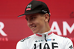 Tadej Pogacar (SLO) UAE Team Emirates wins Stage 9 of La Vuelta 2019 running 99.4km from Andorra la Vella to Cortals d'Encamp, Spain. 1st September 2019.<br /> Picture: Colin Flockton | Cyclefile<br /> <br /> All photos usage must carry mandatory copyright credit (© Cyclefile | Colin Flockton)