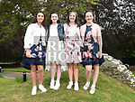Anna McAuley, Sinead Leech, Kate Cleary and Aisling Crinion who was confirmed at The Church of the Immaculate Conception Termonfeckin. Photo:Colin Bell/pressphotos.ie