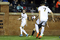WINSTON-SALEM, NC - DECEMBER 01: Jack Hallahan #11 of the University of Michigan passes the ball during a game between Michigan and Wake Forest at W. Dennie Spry Stadium on December 01, 2019 in Winston-Salem, North Carolina.