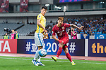 Shanghai FC Defender Shi Ke (R) in action against Jiangsu FC Midfielder Zhang Xiaobin (L) during the AFC Champions League 2017 Round of 16 match between Shanghai SIPG FC (CHN) vs Jiangsu FC (CHN) at the Shanghai Stadium on 24 May 2017 in Shanghai, China. Photo by Marcio Rodrigo Machado / Power Sport Images