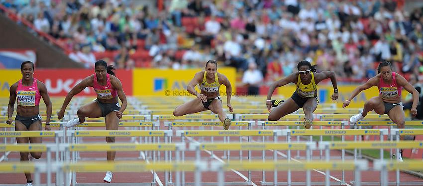 Photo: Ady Kerry/Richard Lane Photography..Aviva British Grand Prix. 31/08/2009. .Jessica Ennis in the 100m hurdles
