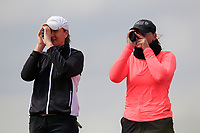 Deirdre Smith (Co. Louth) and Chloe Goadby (SCO) during the final round at the Irish Woman's Open Stroke Play Championship, Co. Louth Golf Club, Louth, Ireland. 12/05/2019.<br /> Picture Fran Caffrey / Golffile.ie<br /> <br /> All photo usage must carry mandatory copyright credit (&copy; Golffile | Fran Caffrey)