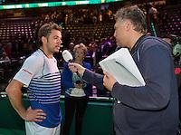 Februari 12, 2015, Netherlands, Rotterdam, Ahoy, ABN AMRO World Tennis Tournament, Stan Wawrinka (SUI)<br /> Photo: Tennisimages/Henk Koster