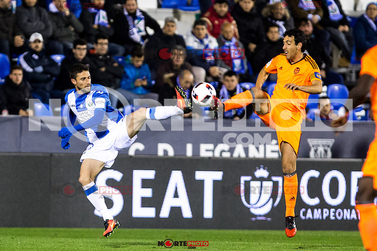 "Club Deportivo Leganes's Valencia's Daniel Parejo during the match of ""Copa del Rey"" between CD Leganes and Valencia CF at Butarque Stadium in Leganes, Spain. November 29, 2016. (ALTERPHOTOS/Rodrigo Jimenez) /NORTEPHOTO.COM"