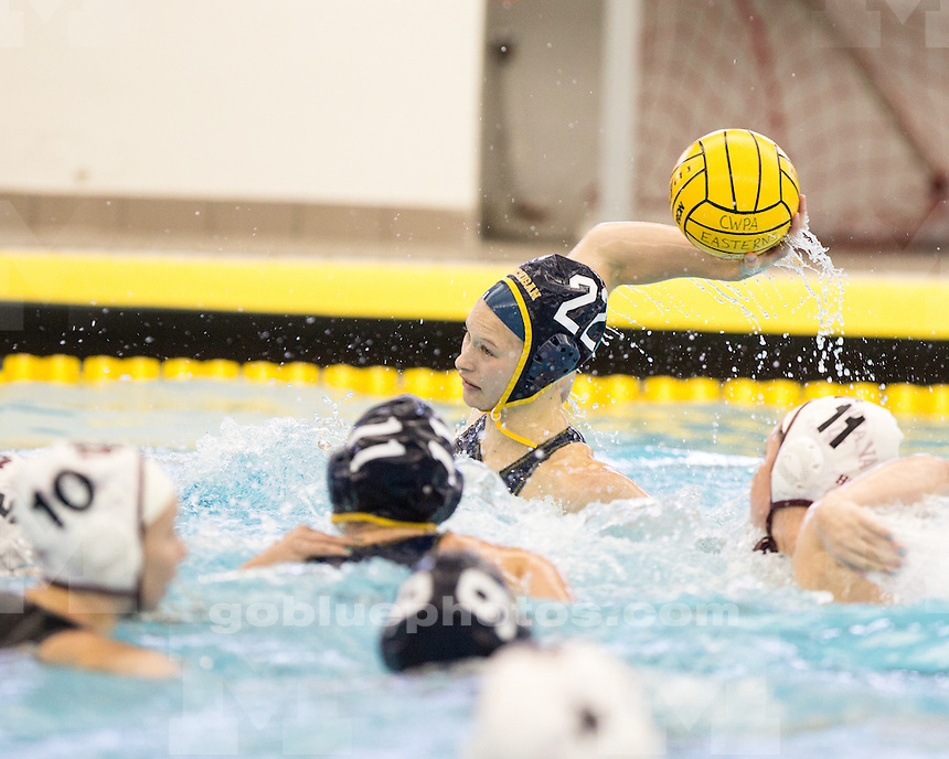 The University of Michigan water polo team beat Indiana, 6-5, in the CWPA Eastern Championship semifinal at Canham Natatorium in Ann Arbor, Mich., on April 27, 2013.