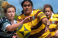 Taita College v Porirua College Girls QF. 2017 Wellington Secondary Schools Condor Rugby Sevens tournament at Naenae College in Naenae, Wellington, New Zealand on Monday, 23 October 2017. Photo: Dave Lintott / lintottphoto.co.nz