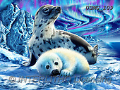 Steven-Michael, REALISTIC ANIMALS, REALISTISCHE TIERE, ANIMALES REALISTICOS, paintings+++++,USMG109,#a#, EVERYDAY ,puzzles,maritime,arctic,seals,global warming
