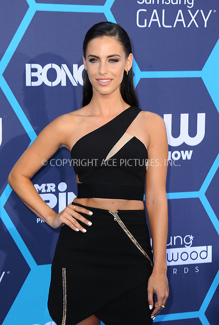 ACEPIXS.COM<br /> <br /> July 27 2014, LA<br /> <br /> Jessica Lowndes arriving at the 2014 Young Hollywood Awards at The Wiltern on July 27, 2014 in Los Angeles, California. <br /> <br /> By Line: Peter West/ACE Pictures<br /> <br /> ACE Pictures, Inc.<br /> www.acepixs.com<br /> Email: info@acepixs.com<br /> Tel: 646 769 0430