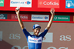 Enric Mas (ESP) Quick-Step Floors finishes in 6th place and leads the young riders competition at the end of Stage 16 of the La Vuelta 2018, an individual time trial running 32km from Santillana del Mar to Torrelavega, Spain. 11th September 2018.                   <br /> Picture: Unipublic/Photogomezsport | Cyclefile<br /> <br /> <br /> All photos usage must carry mandatory copyright credit (&copy; Cyclefile | Unipublic/Photogomezsport)