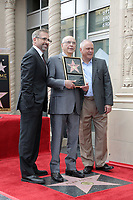 LOS ANGELES - MAY 7:  Steve Carell, Alan Arkin, Matthew Arkin at the Alan Arkin Star Ceremony on the Hollywood Walk of Fame on May 7, 2019 in Los Angeles, CA
