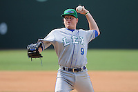 Pitcher Daniel Stumpf (9) of the Lexington Legends in a game against the Greenville Drive on Sunday, July 21, 2013, at Fluor Field at the West End in Greenville, South Carolina. Lexington won, 2-0. (Tom Priddy/Four Seam Images)