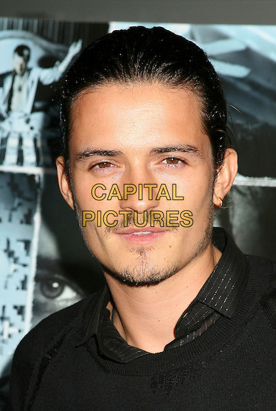 "ORLANDO BLOOM.Los Angeles Premiere of ""Haven"" at ArcLight Theatre, Hollywood, California, USA..September 12th, 2006.Ref: ADM/BP.headshot portrait mustache goatee facial hair.www.capitalpictures.com.sales@capitalpictures.com.©Byron Purvis/AdMedia/Capital Pictures."