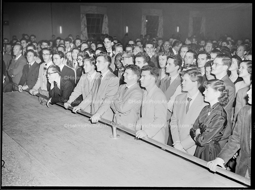 9969-7505. Audience front row at McElroy's Ballroom, February 21, 1949.