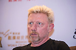 Boris Becker during the Sports Legends Press Conference on the sidelines of the World Celebrity Pro-Am 2016 Mission Hills China Golf Tournament on 22 October 2016, in Haikou, China. Photo by Weixiang Lim / Power Sport Images