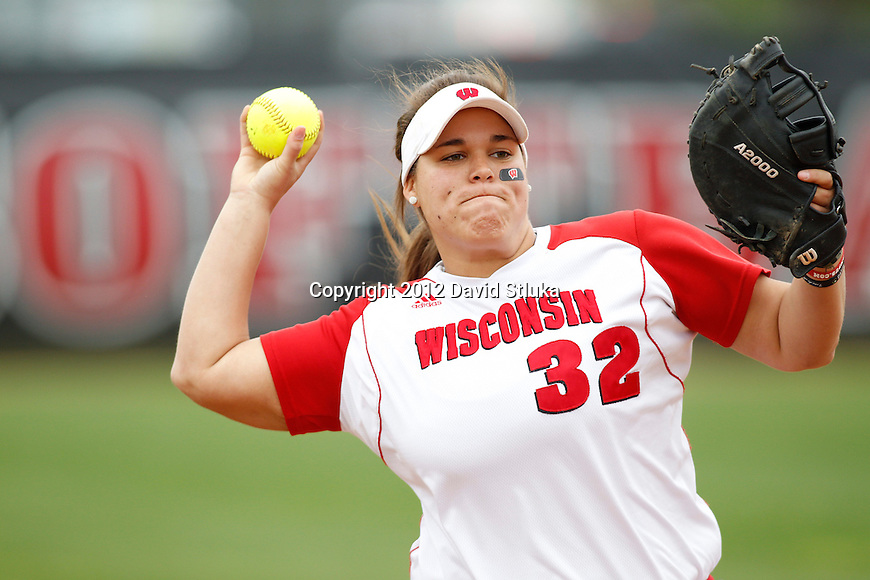 Wisconsin Badgers women's softball vs Michigan Wolverines on Saturday, May 5th, 2012. (Photo by David Stluka)