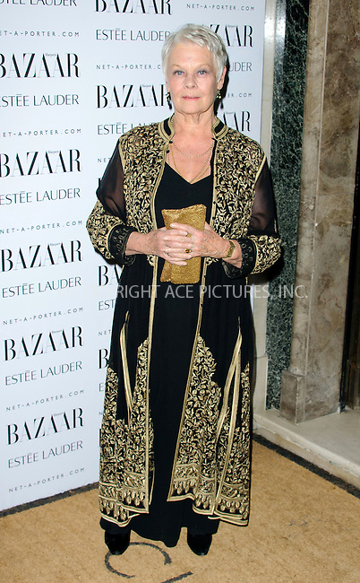 WWW.ACEPIXS.COM . . . . .  ..... . . . . US SALES ONLY . . . . .....November 7 2011, London....Judi Dench at Harper's Bazaar Women of the Year Awards held at Claridges on November 7 2011 in London.. ..Please byline: FAMOUS-ACE PICTURES... . . . .  ....Ace Pictures, Inc:  ..Tel: (212) 243-8787..e-mail: info@acepixs.com..web: http://www.acepixs.com